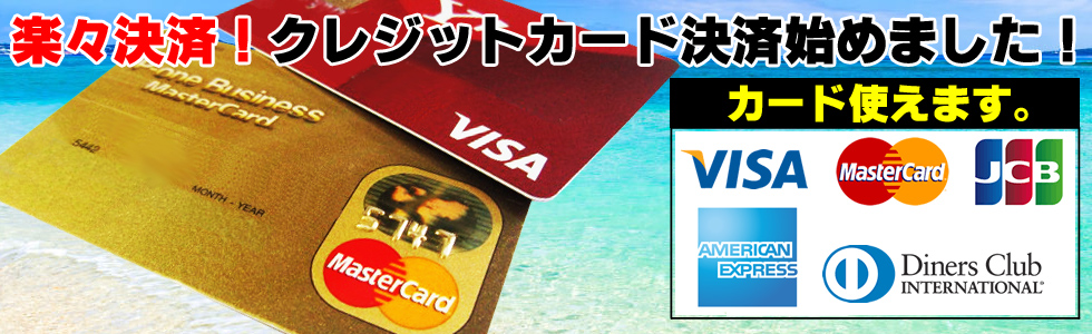 クレジットカート決済可能