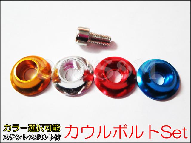 アイテムポストで買える「M6タイプ ボルトカバー 六角ボルトSet 外装等に」の画像です。価格は100円になります。