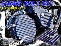 G-moto製 CBX400F NC07 CBR400F NC17 専用 エンジンボルト フランジボルト チタンカラーボルト 24本set
